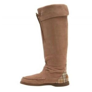 SPERRY Top Sider Tan Longpoint Suede Tall Boots